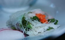 Fresh spring rolls - up close!