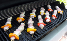 Spiced Pork and Red Pepper Skewers with Meteoric Mango Sauce