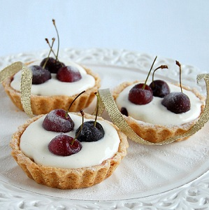 Cherry and Almond Tartlets