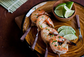 Tequila Shrimp Skewers
