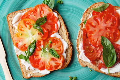 Heirloom Tomato-Basil Sandwich