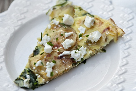 Roasted Potato and Spinach Frittata