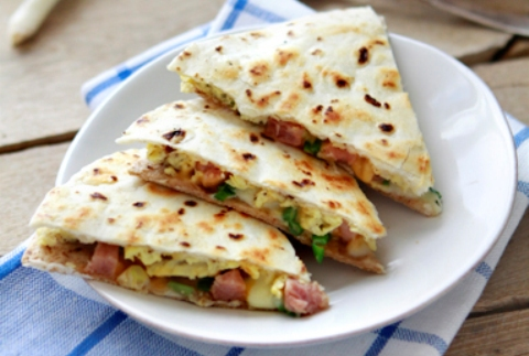 Ham and Egg Quesadillas