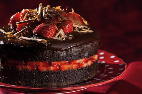 Strawberry Chocolate Devil's Food Cake