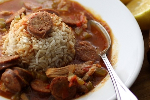 Spicy Turkey and Andouille  Gumbo