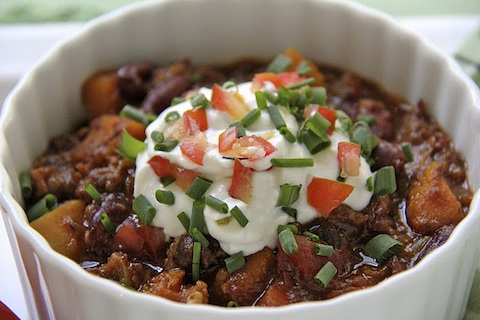 Beef, Butternut & Bacon Chili