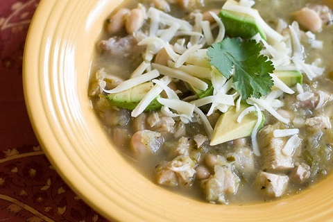 Chicken Chili Verde with Beans