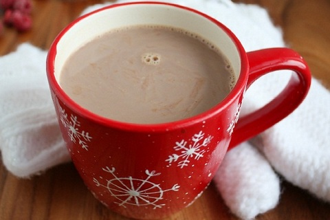 Creamy Raspberry Hot Chocolate