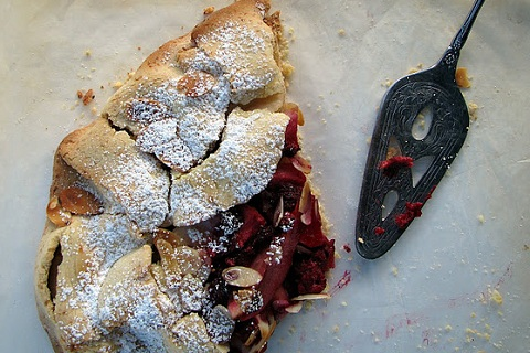 Raspberry and Pear Almond Crostata