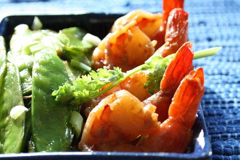 Stir Fried Shrimp with Snow Peas