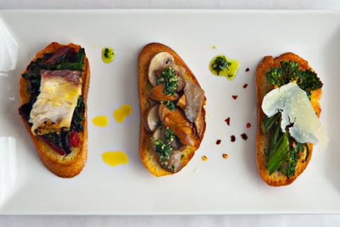 Three Greens Crostinis