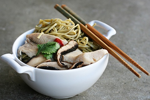 Green Tea, Tilapia, and Soba Noodle Soup