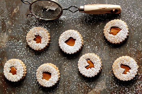 Spiced Linzer Cookies