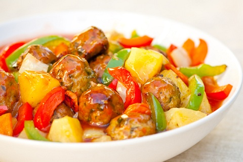 Sweet and Sour Meatballs (from Wok with Ray)