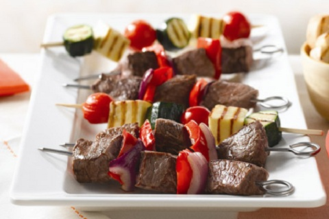 Barbeque Beef Kebabs