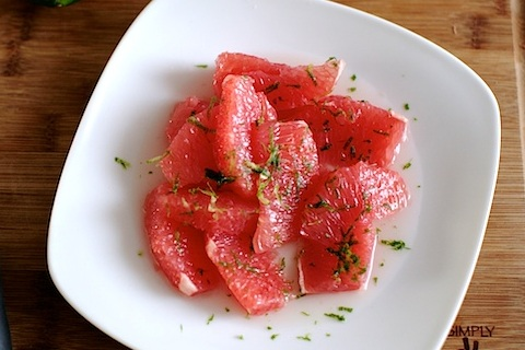 Grapefruit Salad with Honey