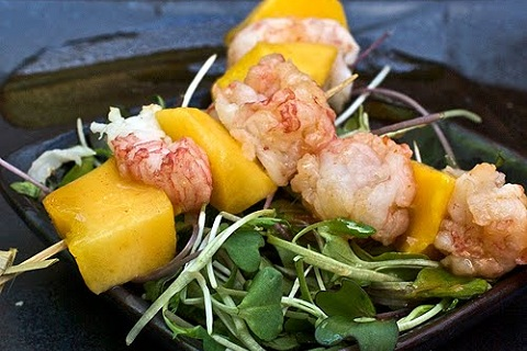 Mango-Lobster Skewers