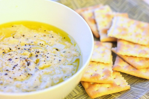 Rosemary & Garlic Cannellini Bean Dip with Parmesan