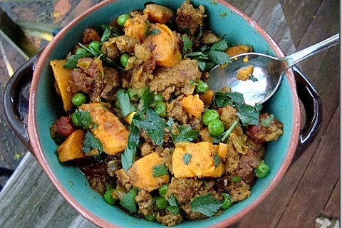 Curried Ground Turkey with Sweet Potatoes