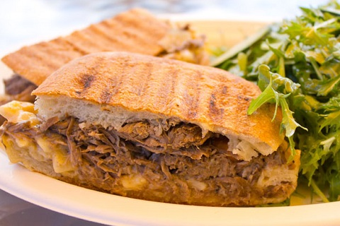 Short Rib Pot Roast Macaroni and Cheese Sandwich