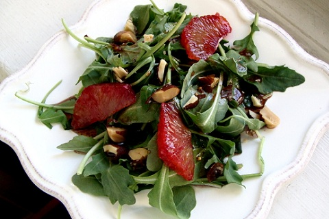 Arugula Salad with Blood Orange Vinaigrette