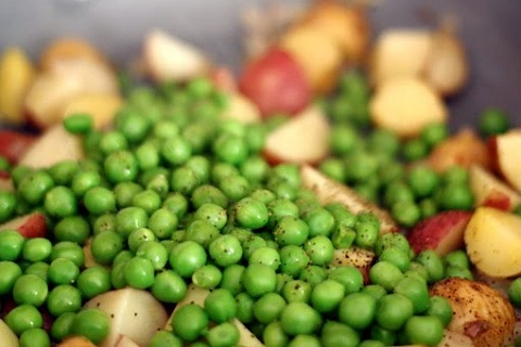 New Peas and Potatoes with Dill