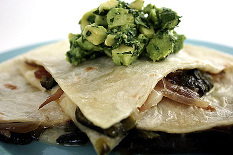 Quesadillas with Poblano Rajas