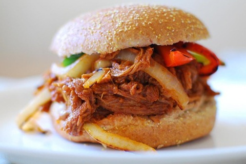 Smoky Slow Cooker Pulled Pork Sandwich