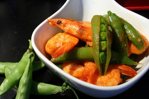 Sugar Snap Peas and Shrimp