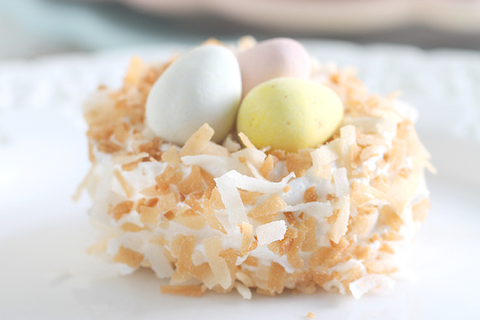 Coconut Mashmallow Nests