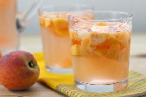 Peach Grapefruit Sangria