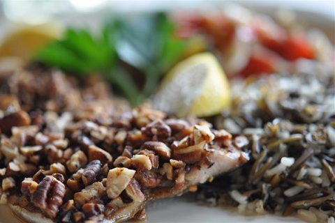 Bourbon & Pecan-Encrusted Trout