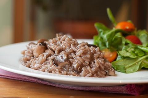 Risotto with Mushrooms and Red Wine