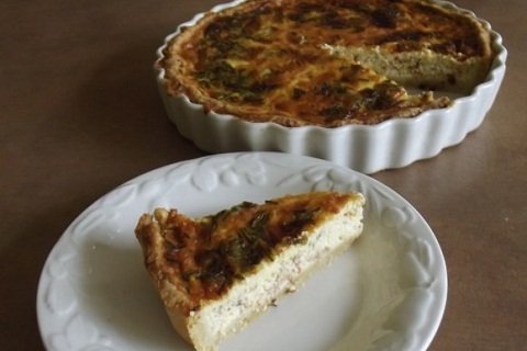 Smoked Salmon Quiche with Potato Pastry Crust