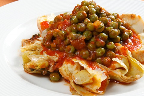 Artichokes with Peas