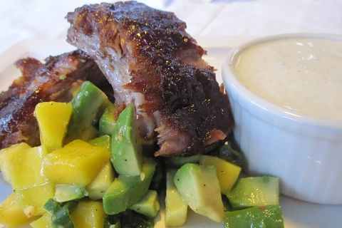 BBQ Ribs with Blue Cheese Dipping Sauce