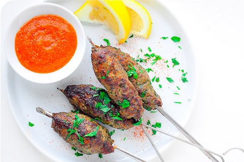 Minced Lamb Skewers