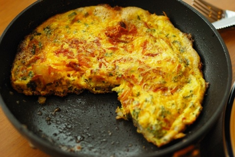 Potato Parsley and Birista Frittata