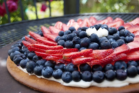 Red White & Blue Honey-Butter Cookie Pie
