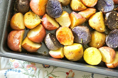 Tangy Roasted Potato Salad