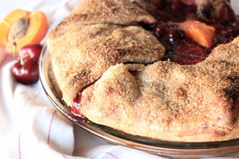 Apricot Cherry Fold-Over Pie