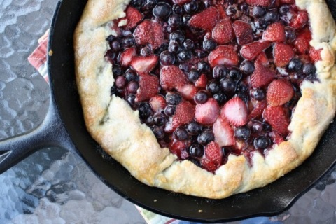 Berry Galette with Whipped Cream Vodka Crust