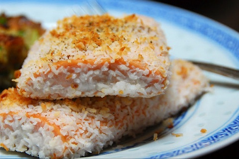 Coconut Crusted Salmon Fillets