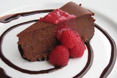 Rich Chocolate Raspberry Truffle Cheesecake
