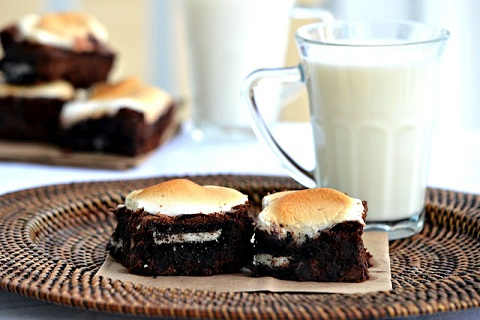 Toasted Marshmallow OREO Brownies