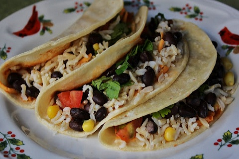 Black Bean, Corn, and Brown Rice Tacos