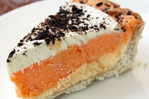 Dreamsicle Ice Cream Pie