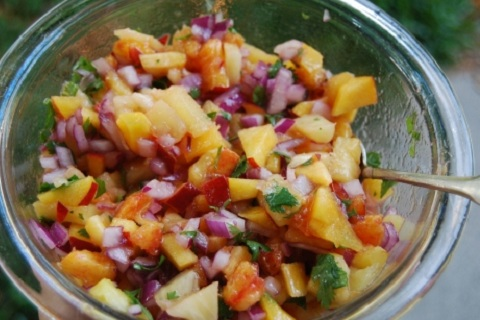 Sweet Peach Salsa