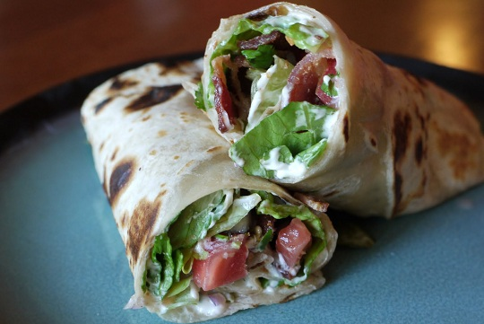 Bacon Lettuce and Tomato Salsa Wrap