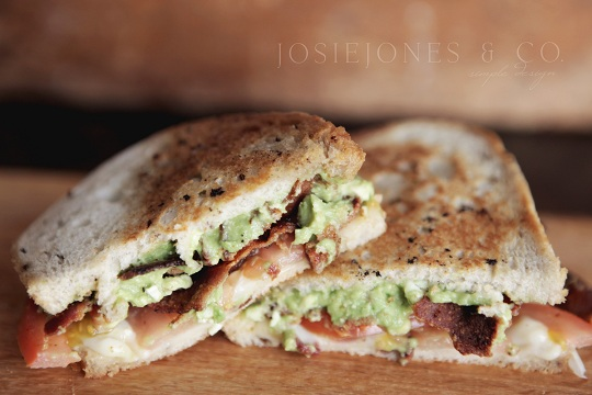 Bacon and Tomato Guacamole Sandwich